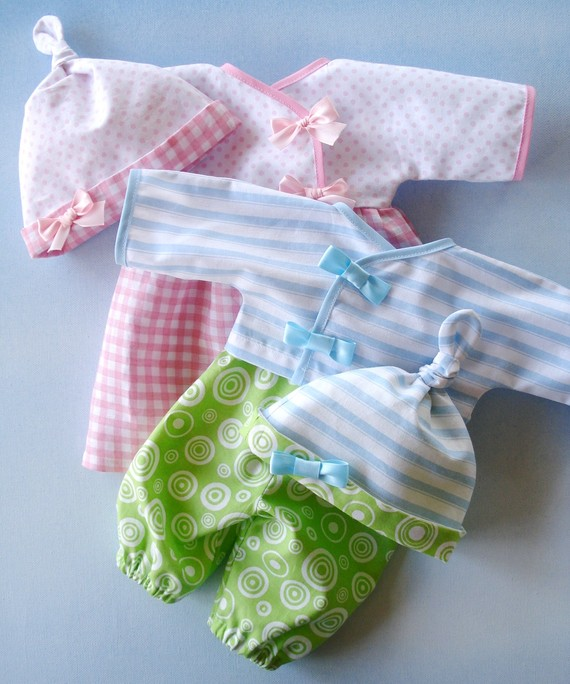 how to make baby doll clothes